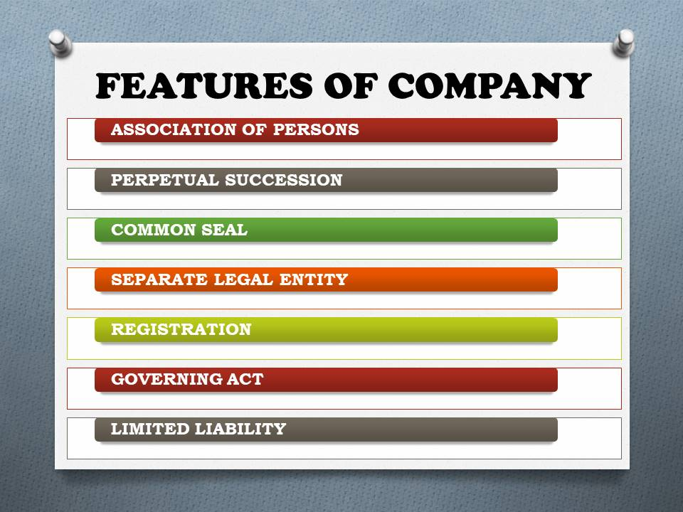 FEATURES OF COMPANY