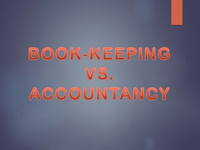 BOOK KEEPING AND ACCOUNTANCY