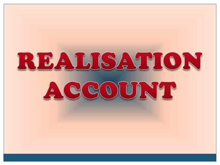 REALISATION ACCOUNT