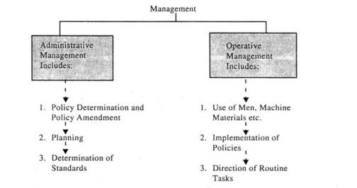 administrative and operative management