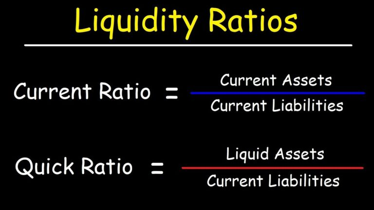 QUICK RATIO AND CURRENT RATIO