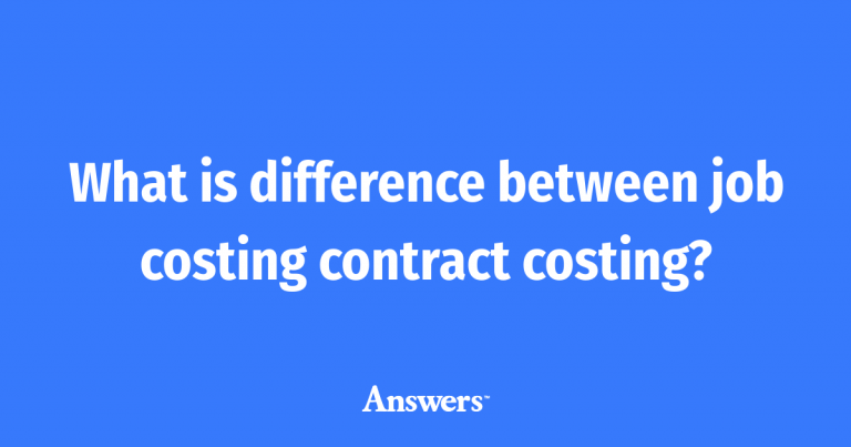 DIFFERENCE BETWEEN JOB COSTING AND CONTRACT COSTING