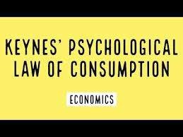 KEYNESIAN PSYCHOLOGICAL LAW OF CONSUMPTION